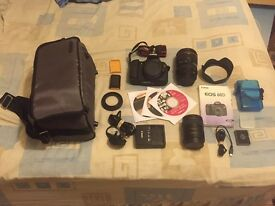 Canon EOS 60d + 24-105mm f4 l is usm lens + extras