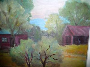 "Listed Artist, Inez Buchanan ""Farm At Actinolite, Ontario"" 1951 Stratford Kitchener Area image 8"