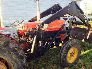 Massey 65 tractor with hd loader