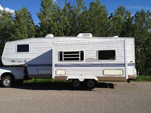 Banff Camping - Camping Trailer setup in your camping site