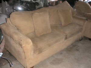 Suede Couch and Loveseat