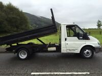 Ford transit tipper 90 t350 MWB (53) REG LOW Milage no v a t