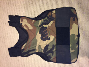 Camouflage paintball chest protector