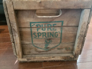 Pure spring ginger ale wood crate