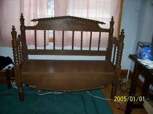 Antique Spanish Wood Bench