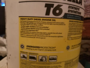 Synthetic oil for heavy diesel engines 2 pails