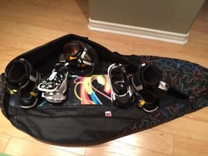 Burton Youth Custom snowboard set