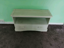 FREE local delivery vintage side table with sliding draw.