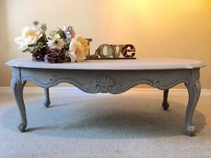 Solid wood french linen table bois solide