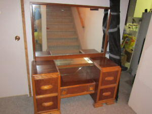 Antique dresser and night stand