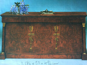 Antique Burl Wood Sideboard