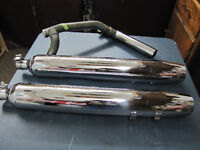 HARLEY DAVIDSON Parts for Sale (pipes,speakers,chrome covers)