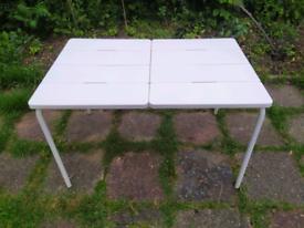 IKEA VADDO white table, outdoor