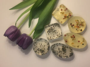 Homemade organic soaps for gifts.