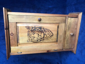 Hand made and carved Tiger Cabniet