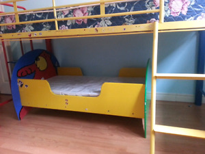 Toddler Bed with crib mattress