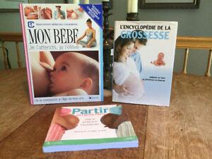 NAISSANCE  3 livres sur la grossesse. je poste
