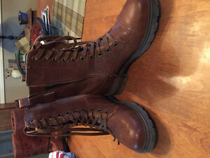 Leather women's boots