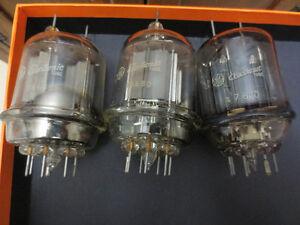 GE Vintage Electronic Tubes / 2 X 16680 / 1 X 7600