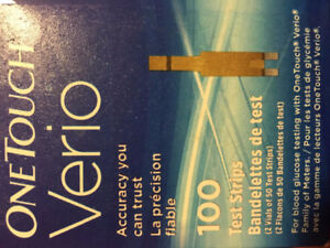 OneTouch Verio Test Strips with monitor