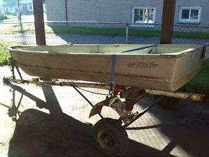 12foot aluminum boat or trailer will sell together or separate