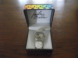 JUSTIN BIEBER BRAVADO WATCH IN PRESENTATION CASE .