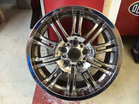 "2x 18"" OEM BMW CHROME M3 WHEELS (STYLE 67) E46"