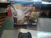 Like new in the box uncharted superslim ps3 bundle 155$