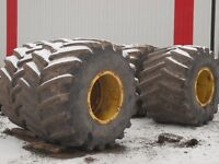 floatation skidder tires and rims 76x50xx32 or 1250/45 B32