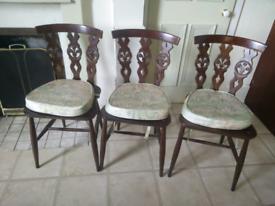 Ercol 6 Chair Set - Mid-Century Vintage Classic Retro