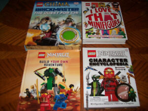 lot of  lego books no minifigure ninjago , chima