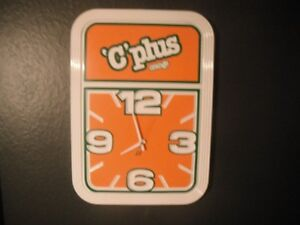 Orange crush, C Plus battery clock. mancave, garage
