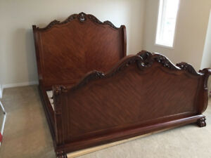 Complete solid wood bedroom set for sale