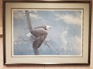 Robert Bateman Framed Print - The Air, The Forest and The Watch