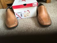 Reiker men's slip-on shoes Size 8(42)- light brown -never been worn