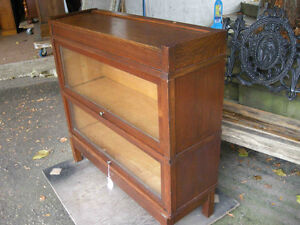 antique two section high barrister bookcase