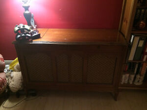 Beautiful antique turntable cabinet