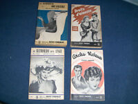 LOT OF 4 VINTAGE FRENCH POCKETBOOKS-PETIT FORMAT-1950'S