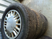 215/65r15 like new Chevy Malibu all season tires with rims