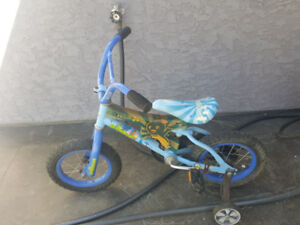 Blue kids bike