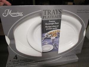 "Trays..""Masterpiece, Heavyweight Plastic,4 oval,Brand New in Box"