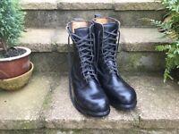 Pair men's black lace up boots