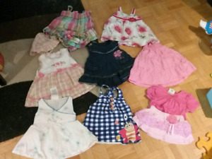Girls dresses and outfits lot 3 - 6 months