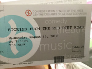 Aug 15 (4) Tickets For  Stories From The Red Dirt Road