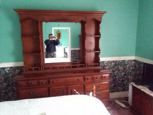 Dresser Headboard and Frame