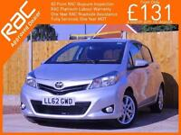 2012 Toyota Yaris 1.3 VVT-I SR 5 Door 6 Speed Bluetooth Air Con Just 2 Owners On