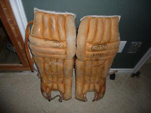 Vintage Brown Goalie Pads
