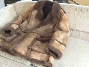 Sheep skin men's coat