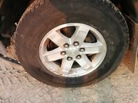 """GM 17""""  Factory Alloy Wheels with Rubber"""