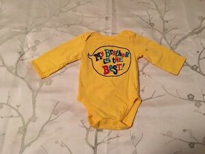 "NWOT 0-3 Month ""My Brother Is The Best"" Onesie"